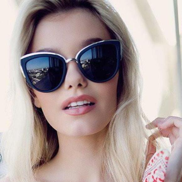 b87cdb340980 Details about QUAY MY GIRL SUNGLASSES AUSTRALIA BLACK SMOKE BLUE -  AUTHENTIC UV PROTECTION